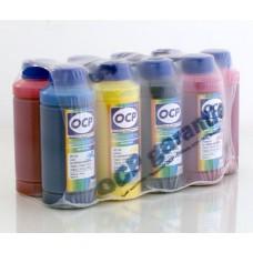 Комплект чернил OCP для Epson R2400 x 10 с промывочной жидкостью
