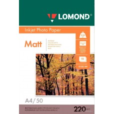 LOMOND 0102144 (A4, 50 листов, 220 г / м2) бумага матовая двусторонняя
