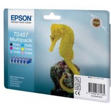 Картридж (комплект 6шт) Epson Stylus R200/320 (O) C13T04874010,  BK,C,M,Y,LC,LM
