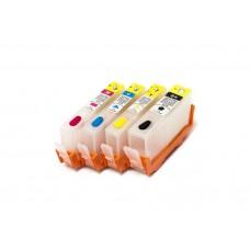 Перезаправляемые картриджи для HP №178 *4 (с чипами)