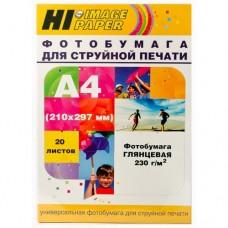 Фотобумага глянцевая односторонняя Hi-Image Paper, A4, 230 г/м2, 20 л.