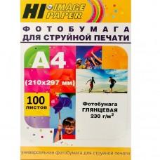 Фотобумага глянцевая односторонняя Hi-Image Paper, A4, 230 г/м2, 100 л.