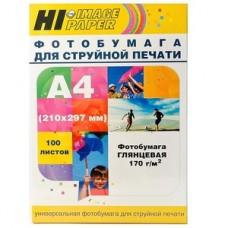 Фотобумага глянцевая односторонняя Hi-Image Paper, A4, 170 г/м2, 100 л.