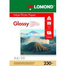 Фотобумага глянцевая односторонняя (Lomond) A4, 230г/м, 50л. (0102022)