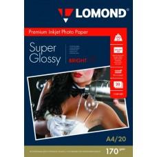 Фотобумага SuperGlossy односторонняя (Lomond) A4, 170г/м, 20л. (1101101)